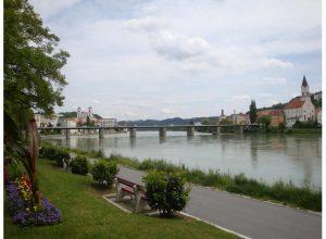 Camino de bici del rio danubio Passau Alemania