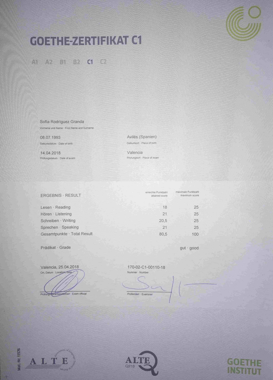 C1 Zertifikat ConvertImage